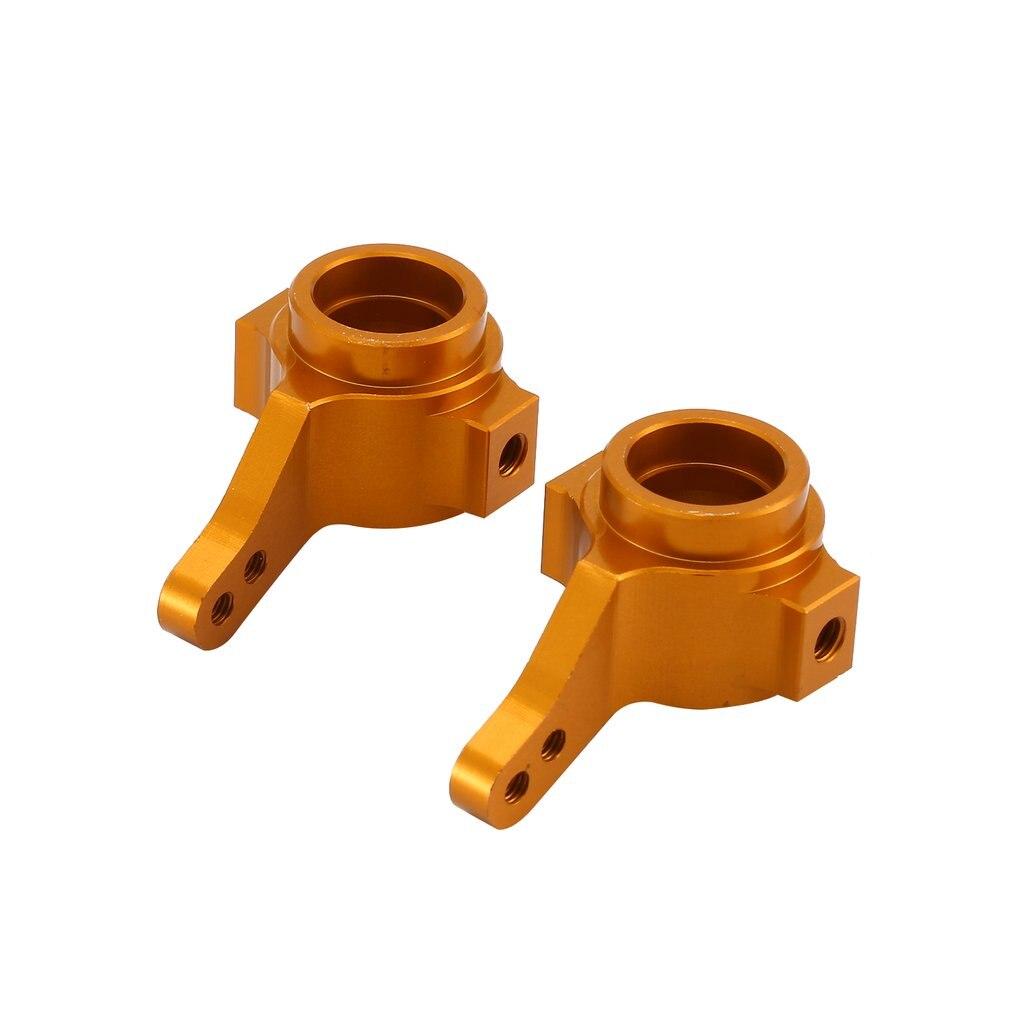 2 uds. Soporte de cubo de dirección de aleación de aluminio (L/R) para 1/10 Tamiya CC01 RC coche mejorado Hop-Up piezas Crawler FJ CRUISER