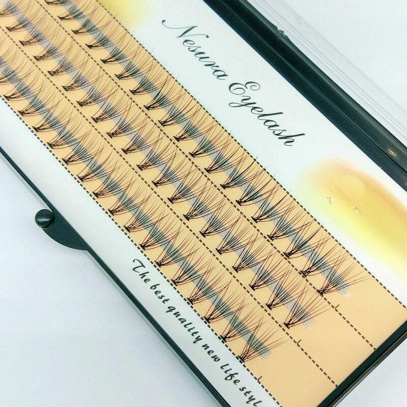 Grafting Eyelashes 10P 60 clusters per box Trichomes Handmade Soft Natural Lashes-Extension Individual lash