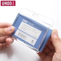 high 2021new quality id acrylic bus card cover employee student badge holder standard size