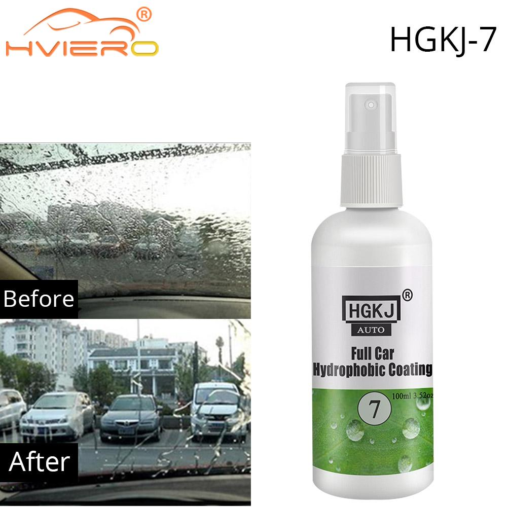 Car Cleaning Paint Cleaner Polishes Hydrophobic Water Rain Repellent Spray Auto Windshield Glass Agent Nano Coating