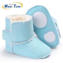 Mother Kids Baby Shoes First walker Unisex Winter Booties Hand-made Anti-silp Prewalker Bowknot Fleece Snow Boots For Baby