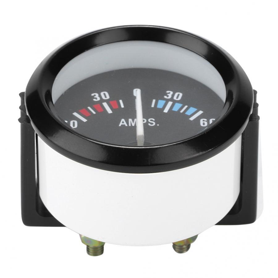 Amperímetro de 12V, 60-0-60 amperios, amperímetro Universal de 52m/2 pulgadas, Amperímetro analógico para vehículos, amperímetro de voltaje para accesorios de automóviles