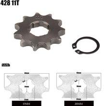Roue du moteur avant 428 11T   17mm 20mm vélo ATV 50cc 70cc 90cc 110cc 125cc 150cc