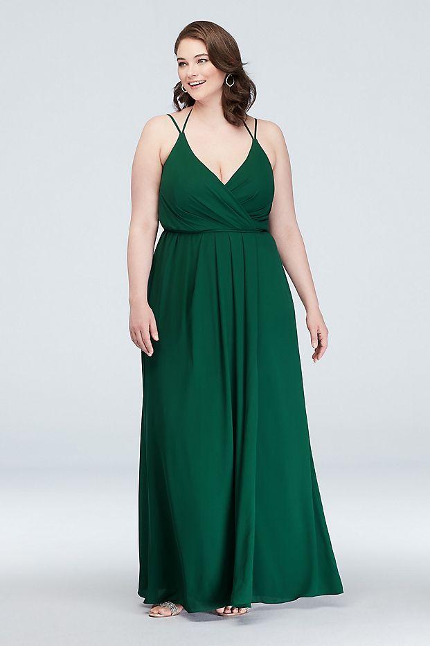 خياط شوب فستان طويل جورجيت لوصيفة العروس التفاف فستان Arouond لحفلات الزفاف Sedona Oasis البط البري اللون الأزرق