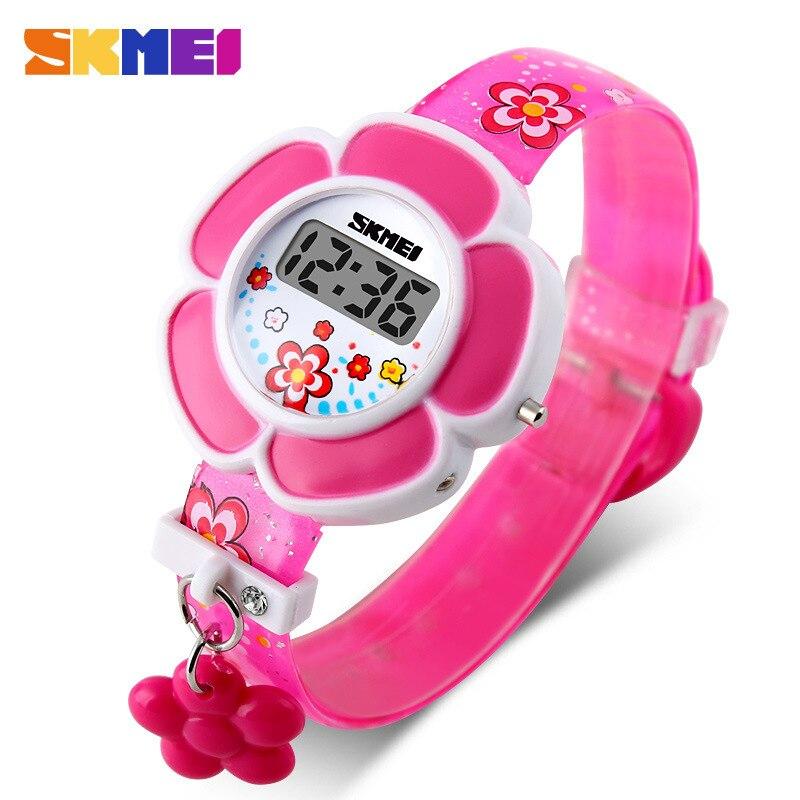 Cute Kids Watches Flower Cartoon Silicone Digital Wristwatch Boys Girls Wrist Watches Party Gift