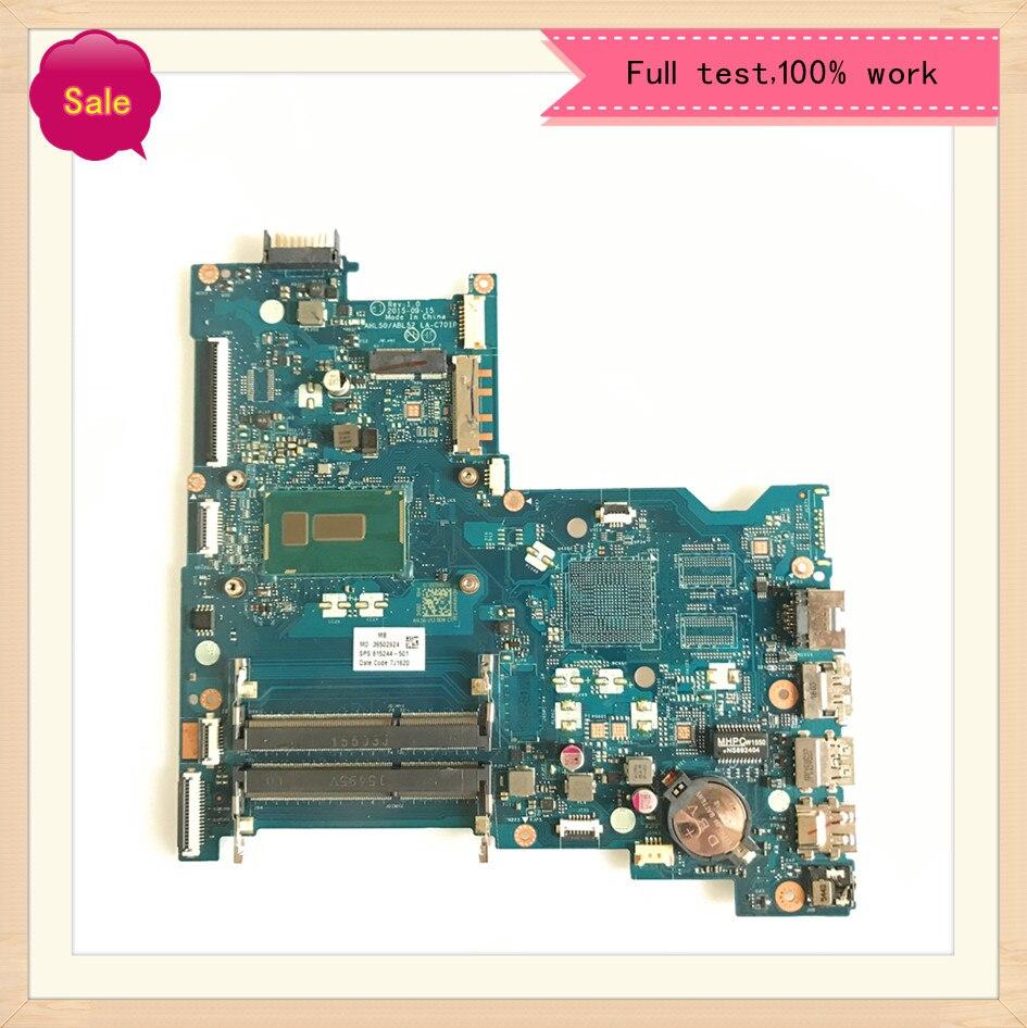LA-C701P ل HP 15-AC 15T-AC 250 G4 دفتر اللوحة AHL50 / ABL52 CPU i5-5200U DDR3 100% اختبار العمل 815244-501