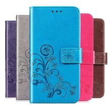 Luxury Embossed 3D Flower Case for LG Joy Y30 C30 H220 PU Leather Wallet Flip Phone Case Bag TPU Cover