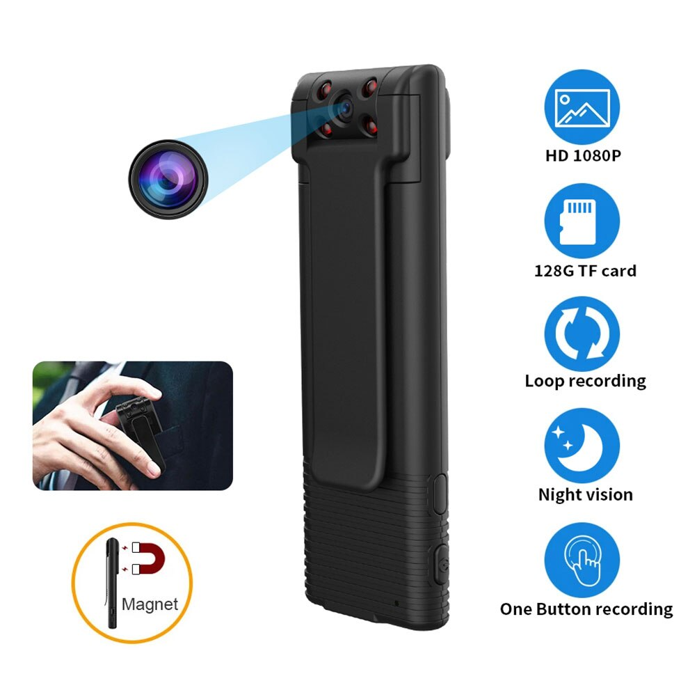 Micro Video Body Camera Voice Recorders 1080p Small Wireless Mini Digital Camera Snapshot Loop Recor