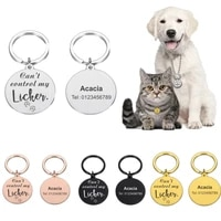 pet id tags anti lost id tag collar dog personalized engraved pet name for cat puppy dog collar tag custom name pet accessories