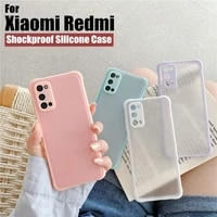 new shockproof matte simple silicone phone case for redmi note 10s 10 8 9s 9 pro max 9a 9c 8a soft cover for xiaomi poco x3 nfc