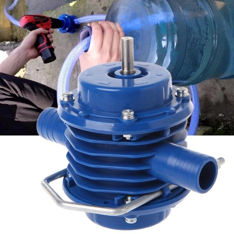 Сверхмощные самовсасывающие ручные водяные насосы с электродрелью, домашние садовые центробежные маленькие водяные насосы, детали и аксес...