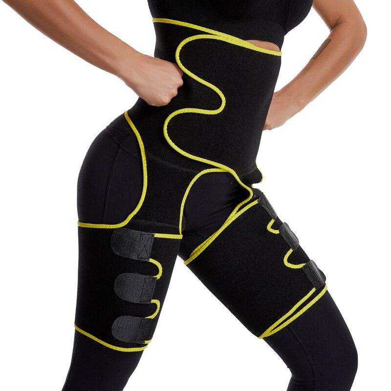 Entrenador para piernas de cintura, mujeres, recortador de muslos, moldeadores de piernas, cinturón adelgazante, Neopreno, sudor, ropa ajustada, tonificante, envoltura para adelgazar