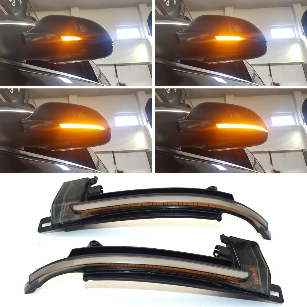 Dynamic Blinker Mirror Light for Audi A3 8P A4 A5 B8 Q3 A6 C6 4F S6 LED Turn Signal Side Indicator S4 S5 S6 A8 D3 8K S8