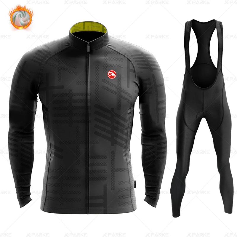 2020 Winter Fleece Pro Cycling Jersey Set Mountian Bicycle Clothes Wear Ropa Ciclismo Racing Bike Clothing Cycling Set