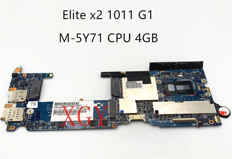 Original for HP Elite x2 1011 G1 Laptop NoteBook PC Motherboard 805072-001 805072-501 805072-601 M-5Y71 CPU 4GB  100%test OK