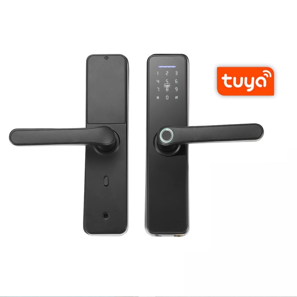WAFU Tuya WIFI Fingerprint Indoor Electronic Lock Smart Fingerprint Password Card Office Door Lock for Hotel Home Tenants