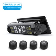 Smart Car TPMS Wireless Tyre Pressure Monitor System Solar Power Digital LCD Display Auto Tyre Press