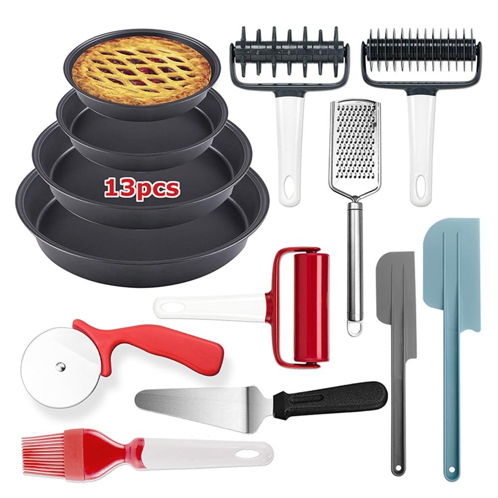 13 قطعة غير عصا خبز أدوات الخبز عدة دبابيس اللف آلة قطع البيتزا أدوات مطبخ EIG88