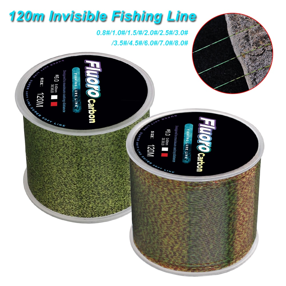 New 120m Invisible Fishing Line Speckle Fluorocarbon Coating Fishing Line 0.14mm-0.50mm 4.13LB-34.32LB Super Strong Spotted Line 200 meters speckle fluorocarbon coating nylon fishing line sinking high abrasion resistance stretchable super invisible line