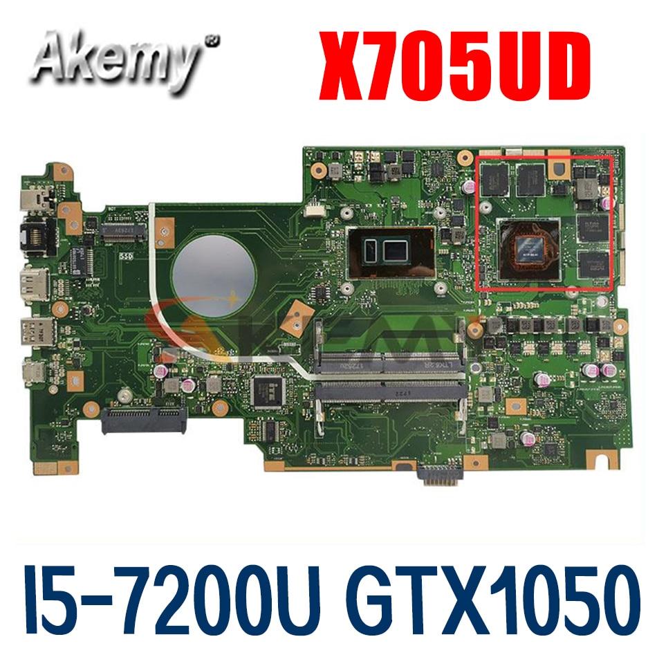 اللوحة الأم X705UD ل Asus VivoBook X705UD X705U اللوحة الأم للكمبيوتر المحمول I5-7200U GTX1050-2GB 100% اللوحة الرئيسية الأصلية