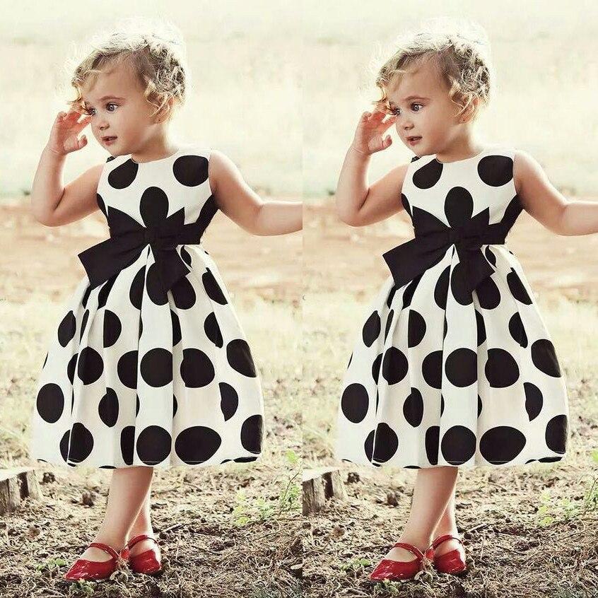 Vestido de niña para boda Vintage Polka Dot princesa Swing Rockabilly vestido de fiesta vestidos infantiles para Niñas Ropa de verano