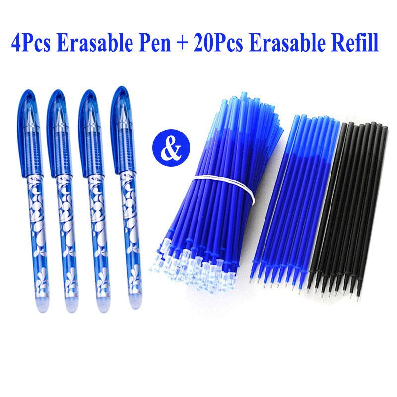 Стержень для гелевой ручки DELVTCH 0,5 мм, 4 + 20 шт./компл.
