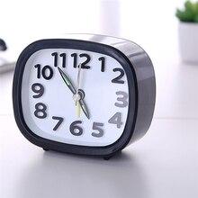 Mini Alarm Clock Rectangle Small Bed Compact Travel Quartz Beep Alarm Clock Travel Clocks Children Student Desk Watch Clock J30