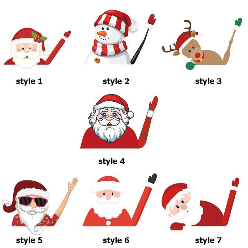 Christmas Rear Windshield Santa Claus Window Decals Car Wiper Sticker Xmas 2019 Waterproof Auto Window Decorative sticker new