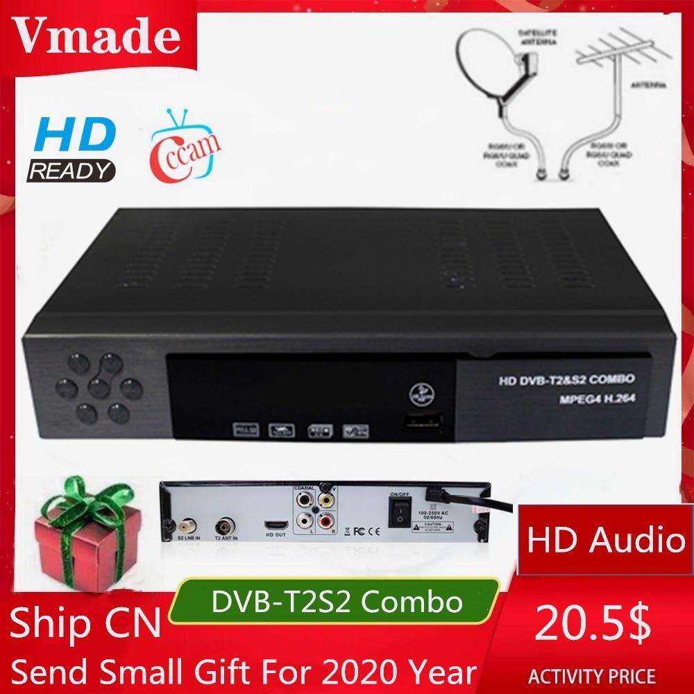 DVB-T2 DVB-S2 Combo Fully HD Digital TV Tuner Receptor DVB-T Terrestrial Satellite TV Receiver Support BISS KEY Set Top box