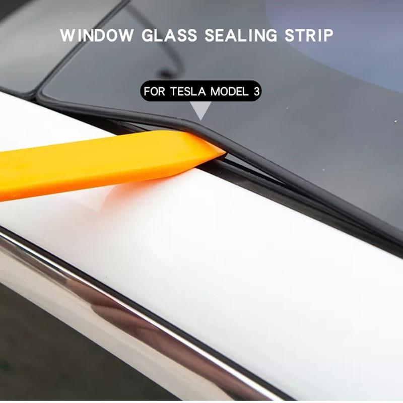 Автомобильные аксессуары для Tesla Model 3, защита для лобового стекла и крыши, набор для снижения уровня шума, уплотнительная лента для стекла