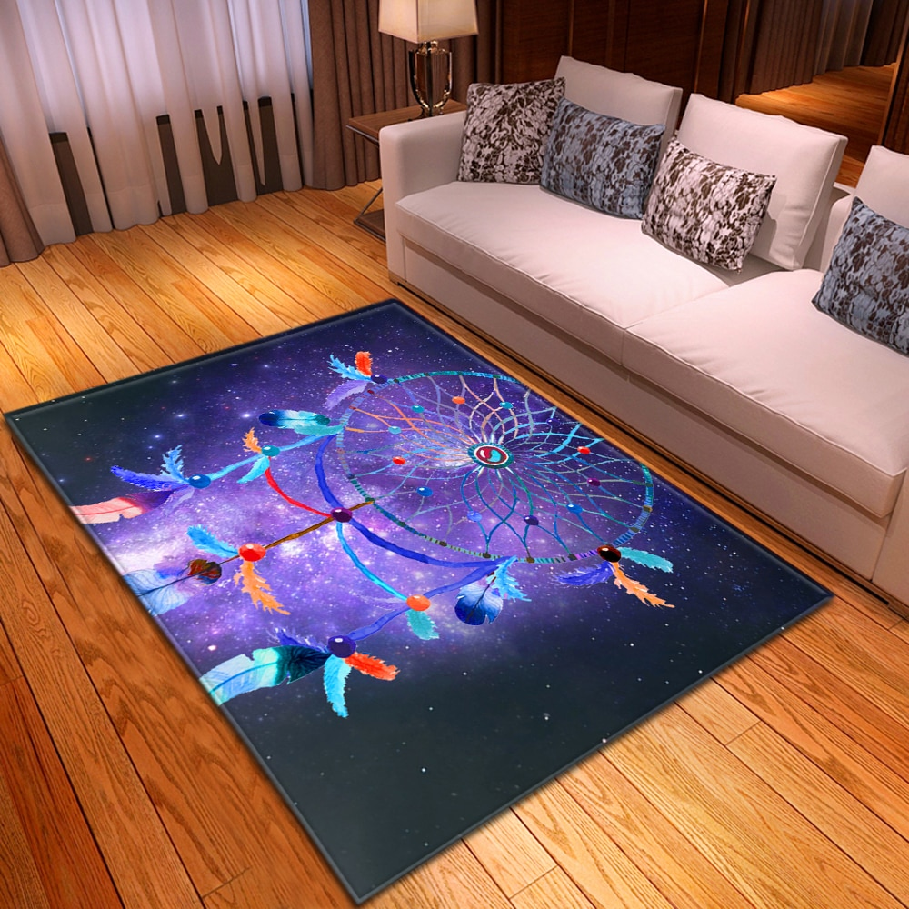 Dreamcatcher-سجادة غرفة نوم غير قابلة للانزلاق ، أرضيات ، ديكور منزلي ، غرفة معيشة