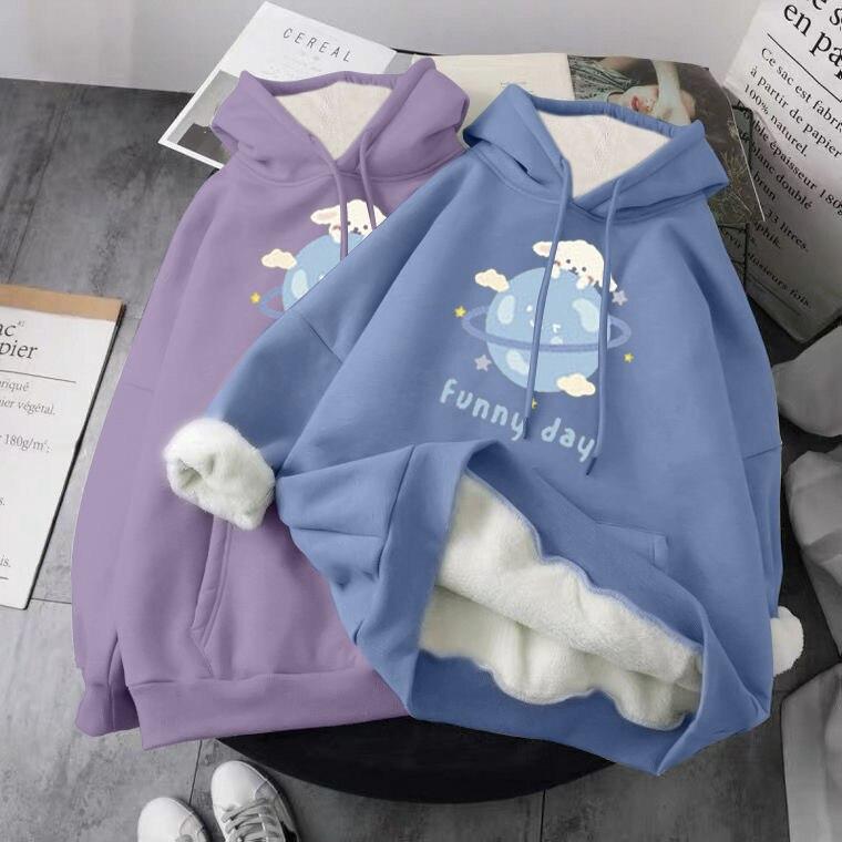 Hoodie Oversized Printed Sweatshirt Hoodie 2021 New Korean Harajuku Casual Retro Korean Pullover Col
