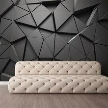 Wellyu papel де сравнению пользовательские обои Мода 3d фотообои стерео геометрические абстрактные серые треугольники фон обои