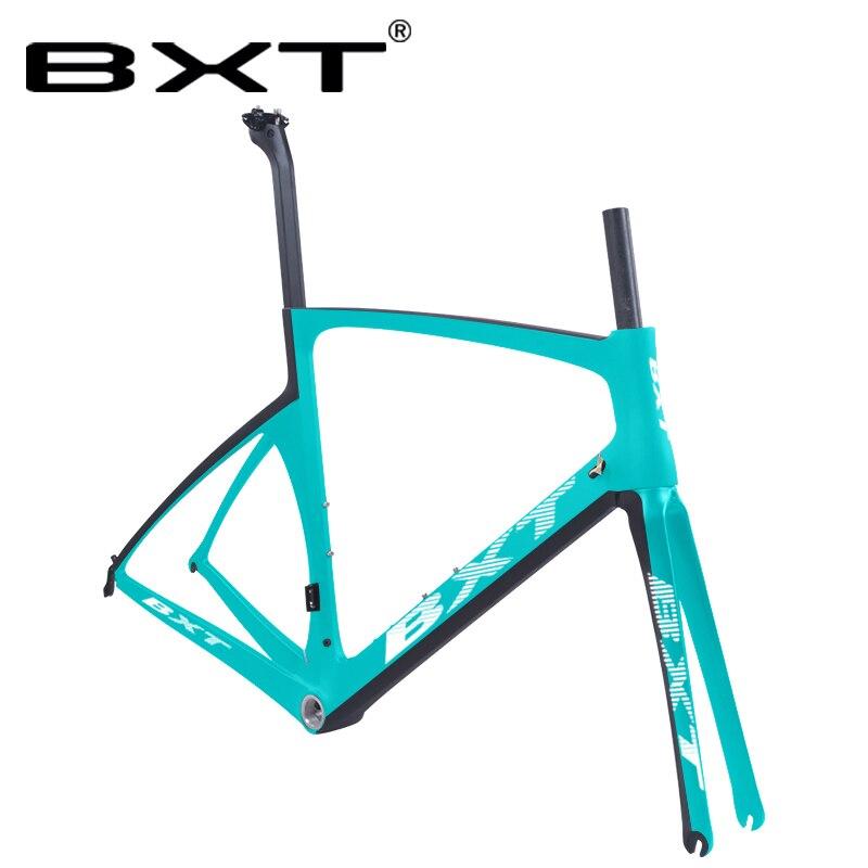 Новинка 700C карбоновое плоское крепление V тормоз велосипед дорожный велосипед рама UD матовая/глянцевая 49 52 54 56 см полный карбоновое волокно ...