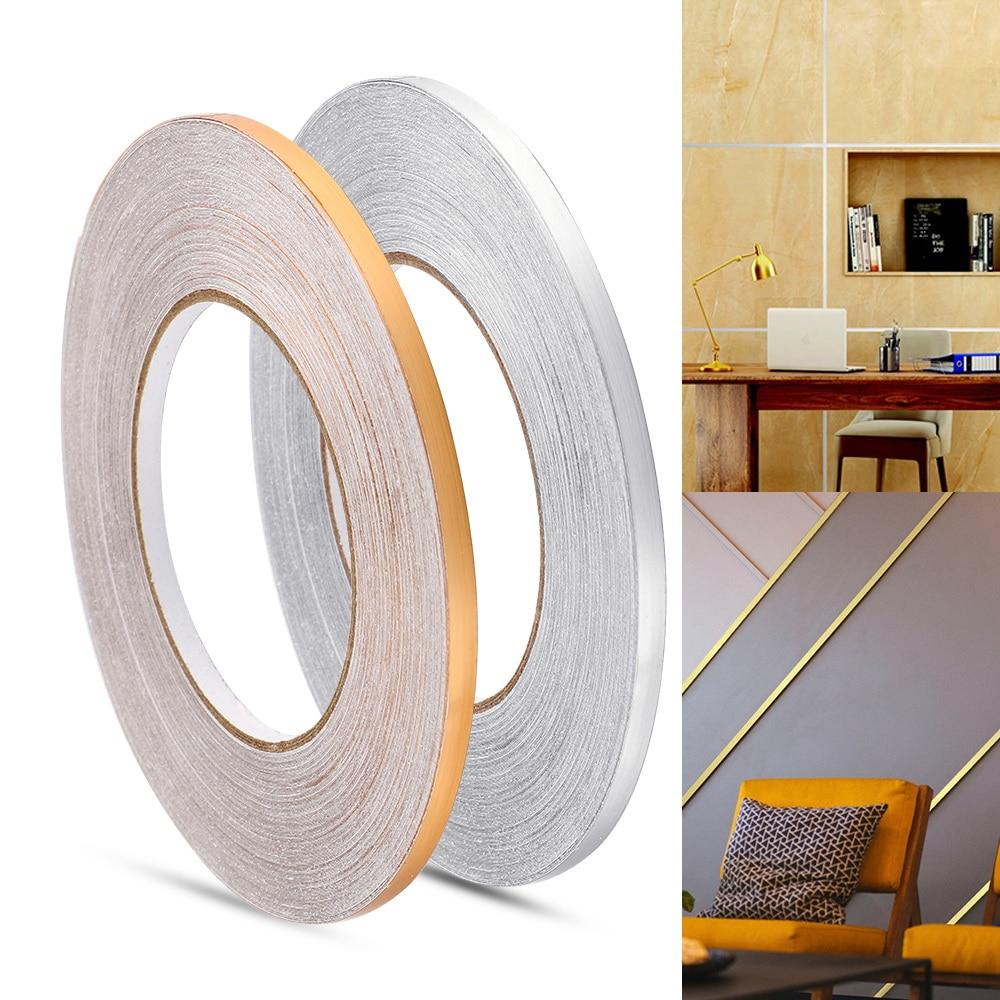 50x0.05m Floor Seam Sticker Waterproof Wall Sticker for Bedroom Living Room Gold Silver Copper Foil Strip Gap Sealing Foil Tape