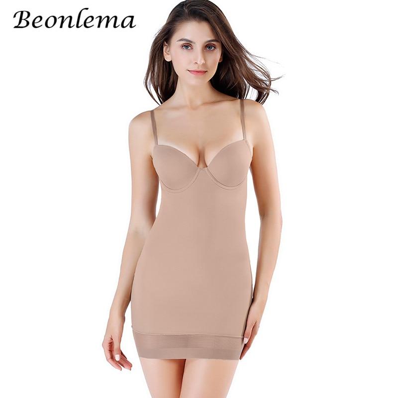 Beongema Body modelador de tiras Sexy Slips para mujeres Body Shaper Lencería Butt Lift Shapewear ropa interior femenina Control Slips M-XL