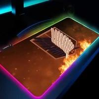 attack on titan mouse pad gaming keyboard mat laptop gamer decoration play mats with backlight usb mat rgb mousepad carpet led