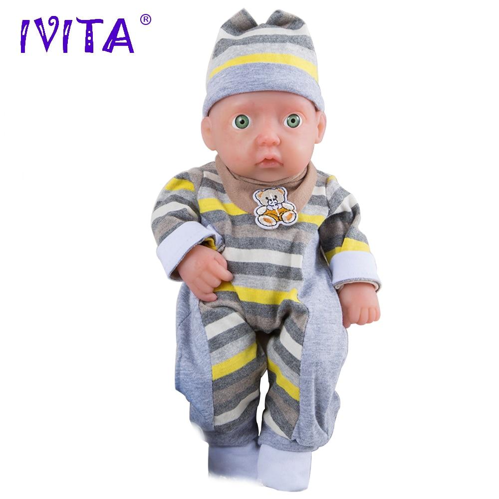 IVITA WB1504 0,85 kg de silicona de alta calidad vivo muñecas renacer bebé nacido la Munecas baño realista chico para Dink familia Juguetes