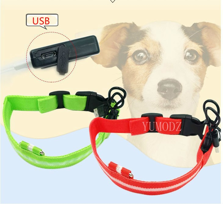 2020 USB Charging Led Dog Collar Anti-Lost/Avoid Car Accident Collar For Dogs Puppies Dog Collars Leads LED Supplies Pet Product