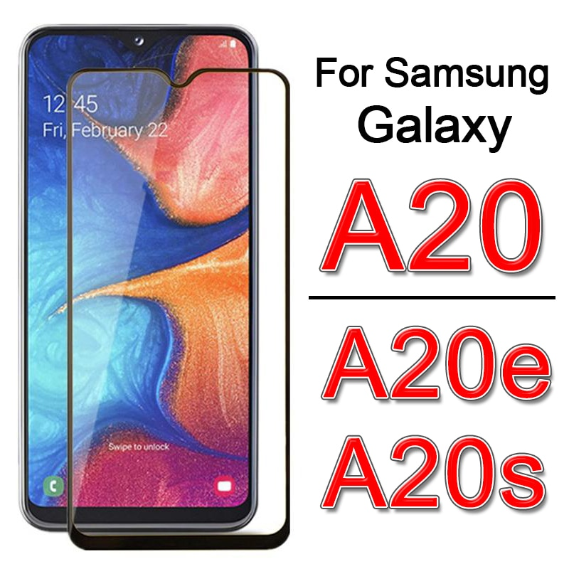 Glass on For Samsung A20s A20e A20 e s Screen Protector For sam Galaxy a 20s 20e 20 SM-A202F Tempere