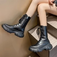 slim sexy platform women high boots knee high pu boots high heels for woman fashion shoes 2021 new spring autumn booties female