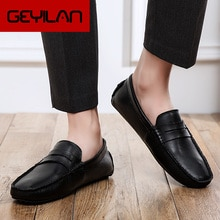 Men Leather Driving Shoes Luxury Fashion Men Casual Shoes Mens Wedding Shoes Loafers Adult Footwear