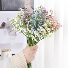 1pc 65cm 90 Head PU Simulation Gypsophila Plastic Bridal Bouquet Wedding Artificial Flower Valentine's Day Gift Home Decoration