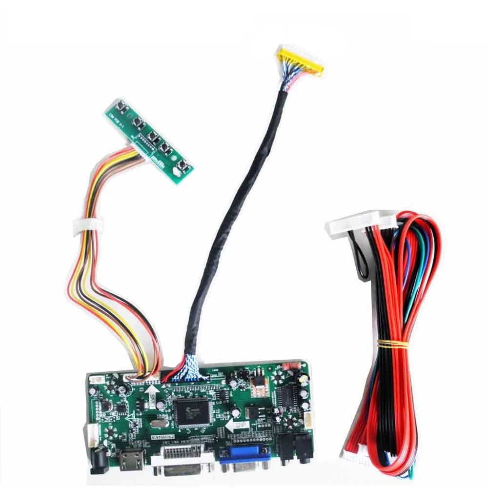 ЖК-контроллер плата драйвера комплект для LM240WU2-SLB2 1920X1200 HDMI + DVI + VGA ЖК-светодиодный экран плата контроллера