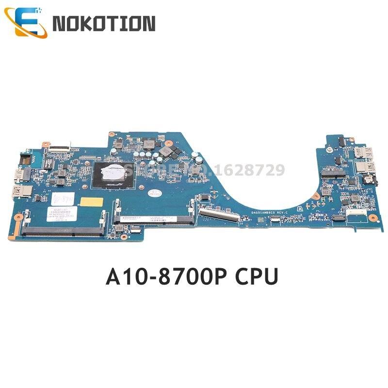 NOKOTION ل HP جناح 14-av005la 14-AV Laptop Mainboard DAG51AMB6C0 860261-601 860261-001 A10-8700P CPU DDR3