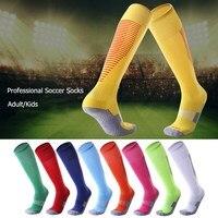 Профессиональные полосатые спортивные футбольные гольфы носки выше колена, дышащие Нескользящие футбольные носки для взрослых и детей