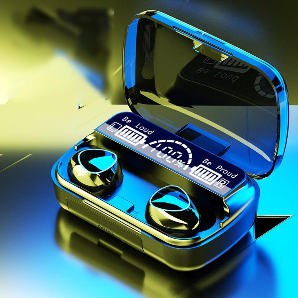 Caixa de Carregamento Fone de Ouvido sem Fio Esportes à Prova Digital com Microfone Fone Estéreo Dwaterproof Água Fones Led Display Bluetooth5.1