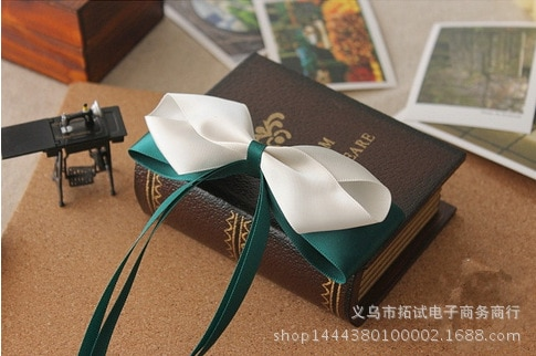 Women and children Korean lace big bow hair accessories handmade long ribbon bow duckbill clip hair ring spring clip HDJ036