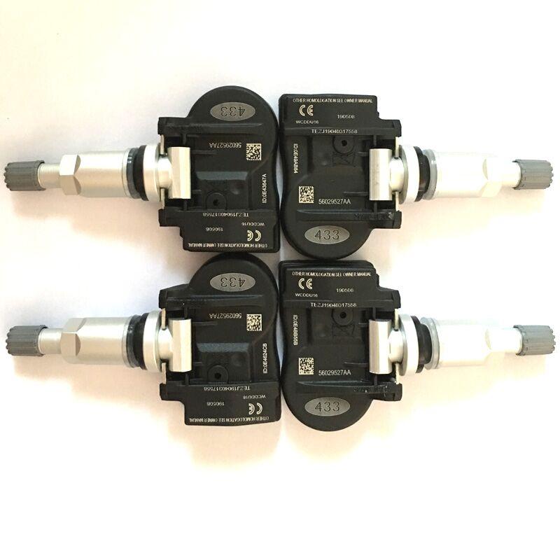 433MHz ajuste 56053031AD 68001698AA Sensor de presión de neumáticos TPMS para Chrysler Dodge 56053031AD