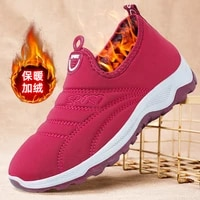 cotton shoes womens 2021 winter new style plus cashmere warm casual cotton shoes womens shoes shallow mouth snow boots